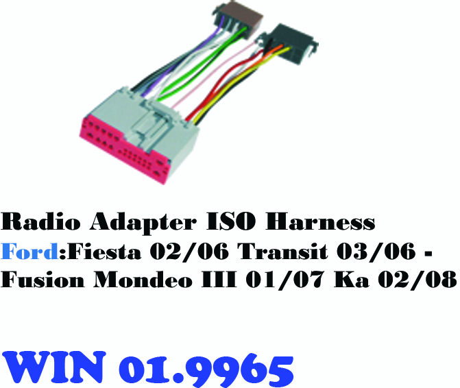 RADIO ADAPTER ISO HARNESS FORD