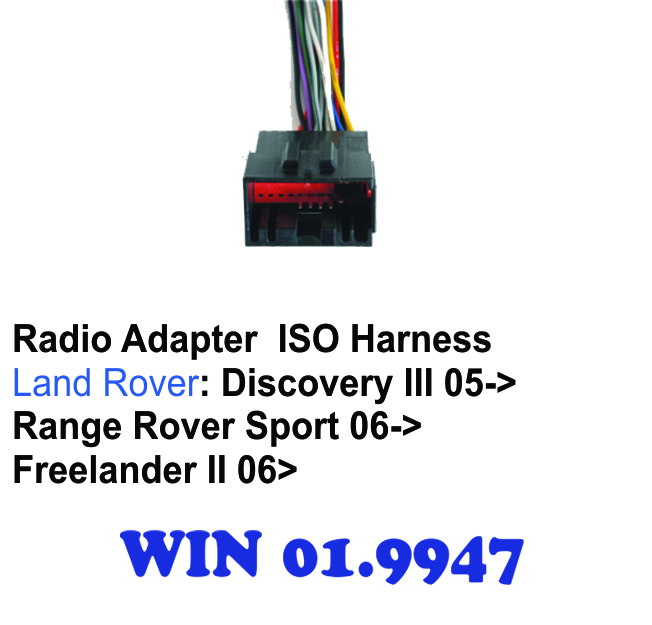 RADIO ADAPTER ISO HARNESS LAND-ROVER on