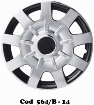 "UNIVERSAL WHEEL COVERS DOUBLE COLOR MOD. 564/B 13""-14""-15"""