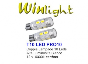 PAIR LED BULS T10  CAN-BUS